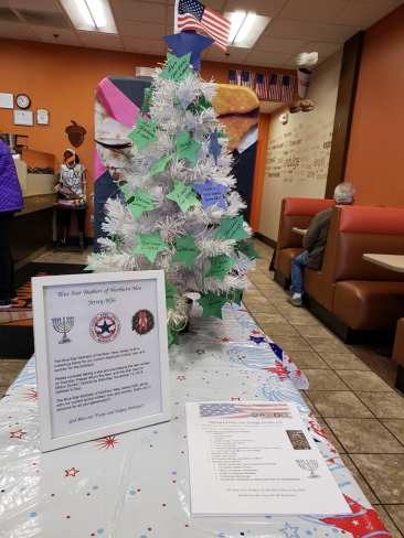 Our holiday giving tree currently at the Milton Dunkin' Donuts!
